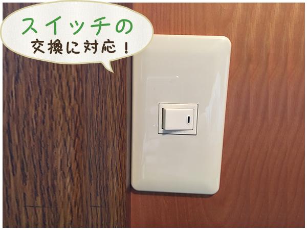 設置した片切スイッチ