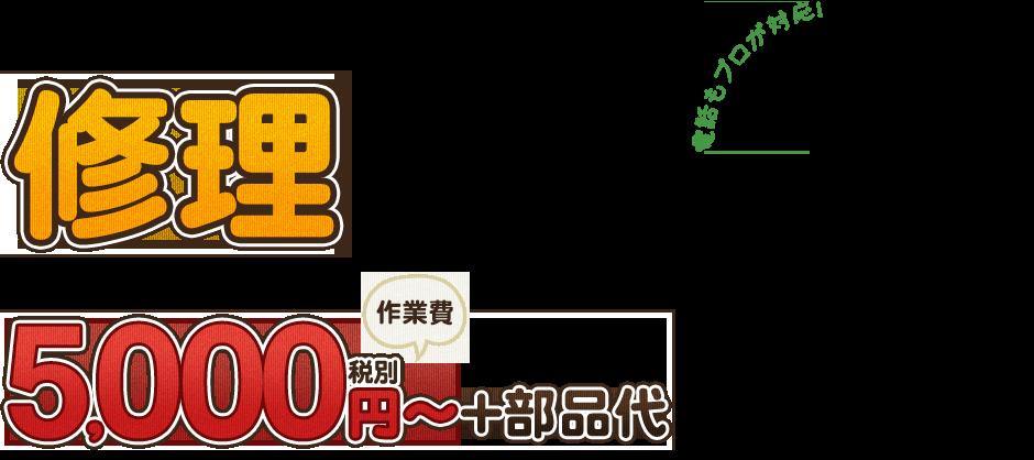 修理5,000円~+作業費