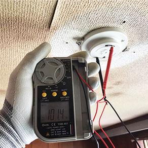 シーリングライトの電圧調査