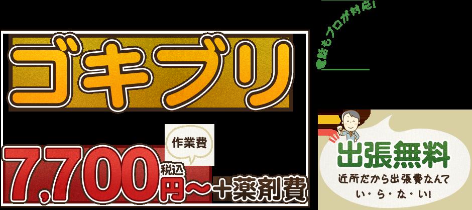 ゴキブリ駆除7700円~
