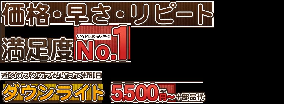 価格・早さ・リピート満足度No,1ダウンライト5500円+部品代