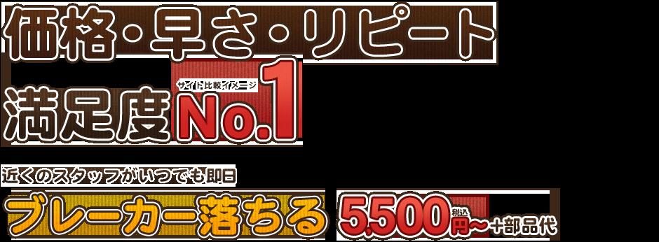 価格・早さ・リピート満足度No.1ブレーカー落ちる5500円~+部品代
