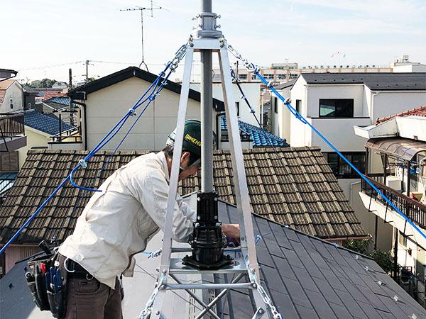 アマチュア無線のアンテナ工事